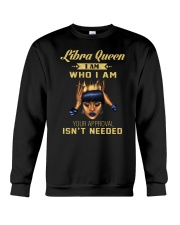 Libra Queen Who I am Crewneck Sweatshirt thumbnail