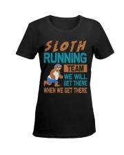SLOTH RUNNING Ladies T-Shirt women-premium-crewneck-shirt-front