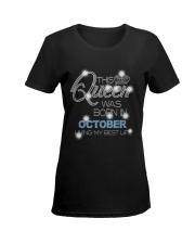 OCTOBER QUEEN Ladies T-Shirt women-premium-crewneck-shirt-front