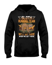 SLOTH RUNNING Hooded Sweatshirt thumbnail