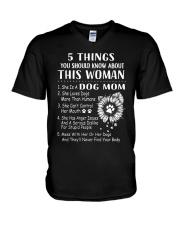 H- Dog Mom Tshirt V-Neck T-Shirt thumbnail
