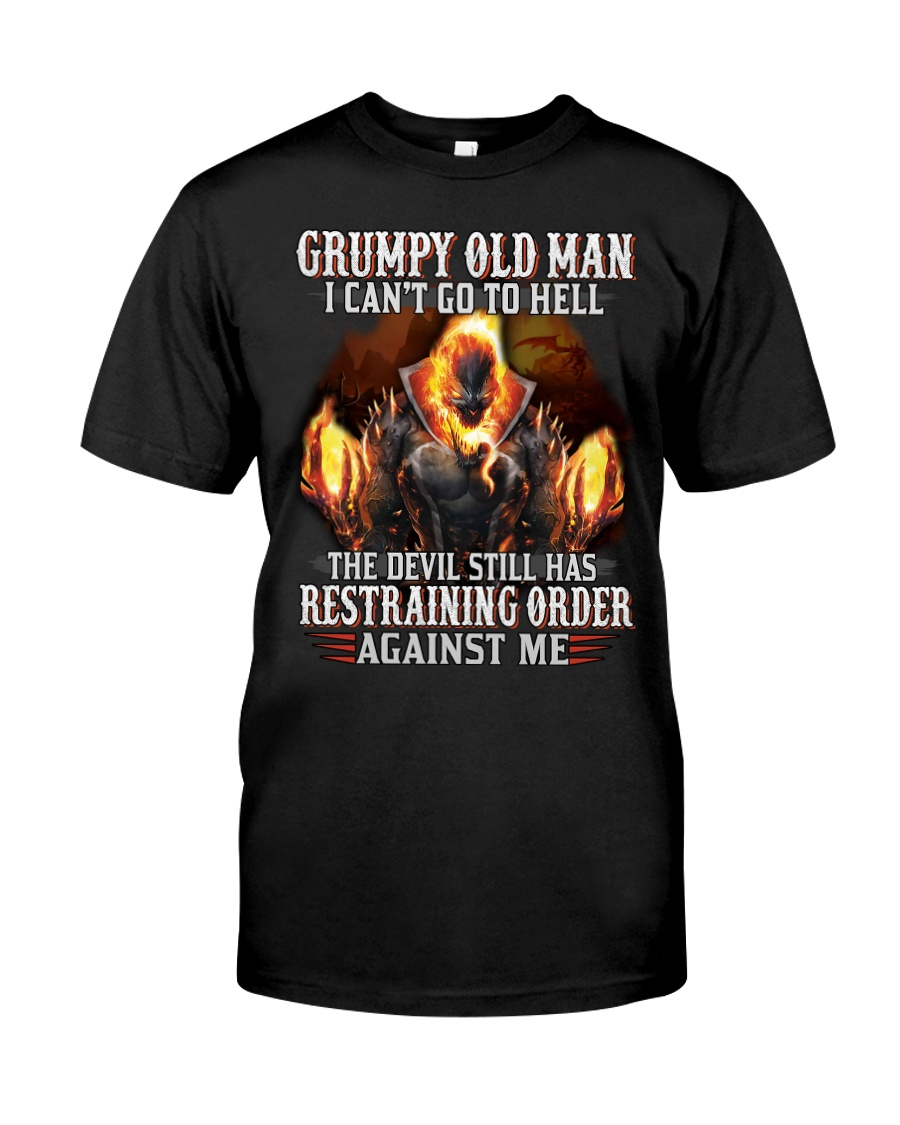 H-Grumpy old man Graphic tee Cool T shirts for Men Classic T-Shirt