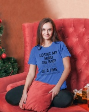 ONE BABY SHARK DO DO DO Ladies T-Shirt lifestyle-holiday-womenscrewneck-front-2
