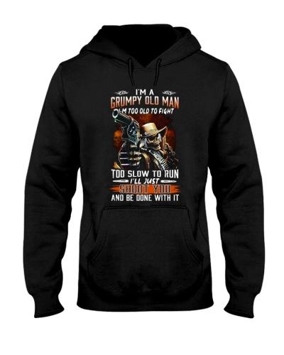 H- Grumpy old man printing graphic tees shirt