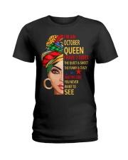 OCTOBER QUEEN Ladies T-Shirt front