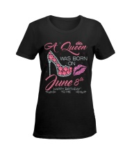 8th June  Ladies T-Shirt women-premium-crewneck-shirt-front