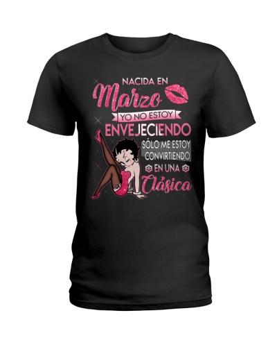 Camisetas sublimadas mujer clásica nacida Marzo