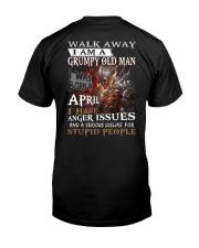 H- GRUMPY OLD MAN M4 Classic T-Shirt back
