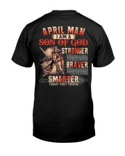 H- April T shirt Printing Birthday shirts for Men Classic T-Shirt back