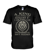 AUGUST KING 1 V-Neck T-Shirt thumbnail
