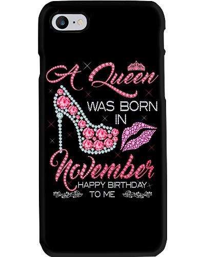 Birthday shirt design for November girls women
