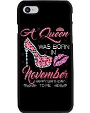 Birthday shirt design for November girls women Phone Case thumbnail