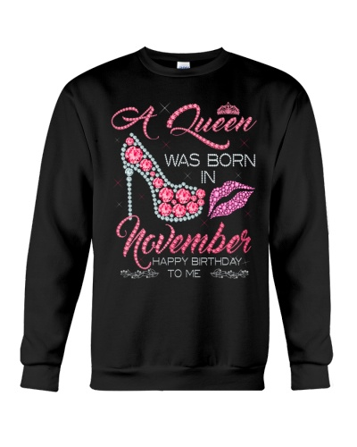 Birthday shirt design for November girls women