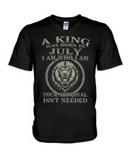 H- JULY KING V-Neck T-Shirt thumbnail