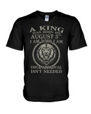 AUGUST KING 5 V-Neck T-Shirt thumbnail