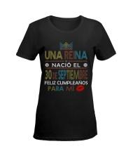 30 de septiembre Ladies T-Shirt women-premium-crewneck-shirt-front