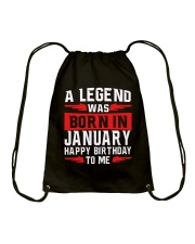 JANUARY MAN Drawstring Bag tile