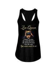 Leo Queen 3 sides Ladies Flowy Tank thumbnail