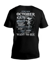 H- OCTOBER MAN V-Neck T-Shirt thumbnail