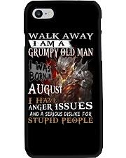 Grumpy old  man printing graphic tees shirt design Phone Case thumbnail