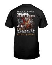 Grumpy old  man printing graphic tees shirt design Classic T-Shirt back