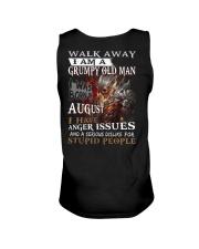 Grumpy old  man printing graphic tees shirt design Unisex Tank thumbnail