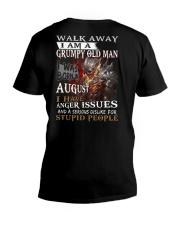 Grumpy old  man printing graphic tees shirt design V-Neck T-Shirt thumbnail