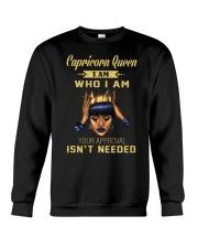 Capricorn Queen Who I am Crewneck Sweatshirt thumbnail