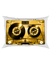 Turntable cassette - Gold version Rectangular Pillowcase thumbnail