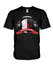 Digital VS Vinyl - For DJ V-Neck T-Shirt thumbnail