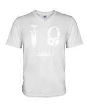 Music Addict V-Neck T-Shirt thumbnail
