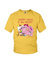 Baby-Elephant-Cartoon - Every Child Is An Artist Youth T-Shirt front