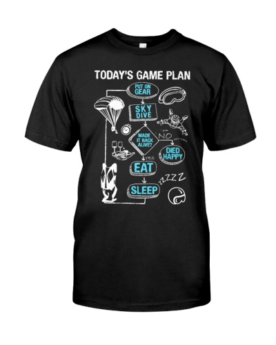 SKY DIVING TODAYS GAME PLAN SKYDIVE CUTE GIFT