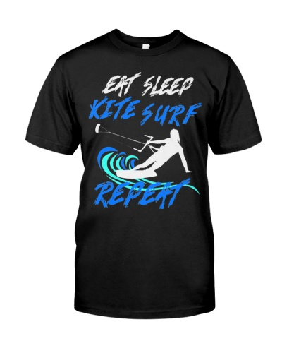 CUTE EAT SLEEP KITE SURF REPEAT BEST FUNNY GIFT