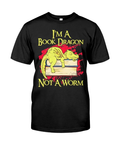 IM A BOOK DRAGON NOT A WORM FUNNY CUTE GIFT