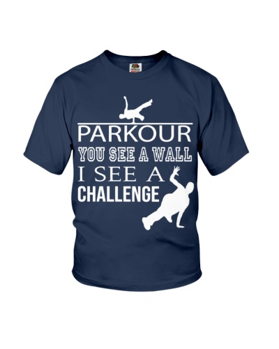 CUTE I SEE A CHALLENGE PARKOUR BEST FUNNY GIFT IDE