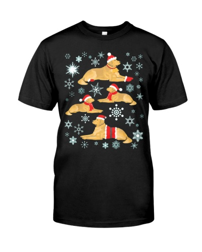 CUTE GOLDEN RETRIEVER CHRISTMAS FUNNY GIFT