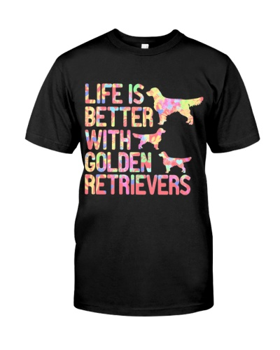 CUTE LIFE IS BETTER WITH GOLDEN RETRIEVERS
