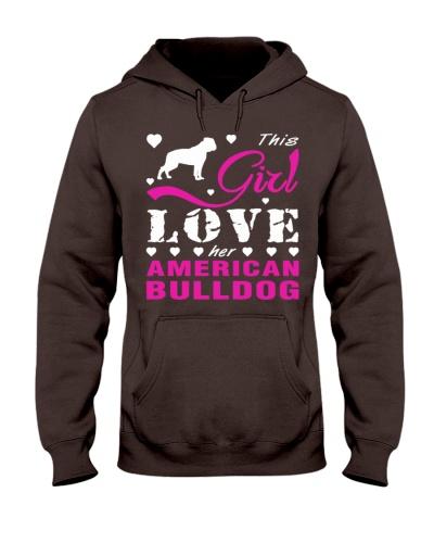 This girl love her american bulldog