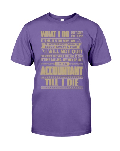 i am an accountant till i die