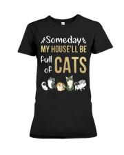Cat Full Of Premium Fit Ladies Tee thumbnail