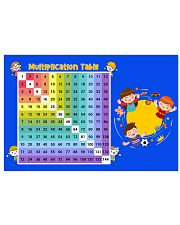 Multiplication Table 24x16 Poster front
