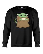 Baby Yoda Cat Crewneck Sweatshirt thumbnail