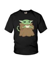 Baby Yoda Cat Youth T-Shirt thumbnail