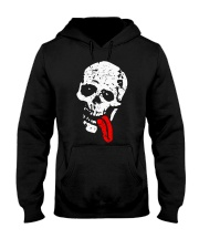 Skeleton with Red Tongue Hooded Sweatshirt thumbnail