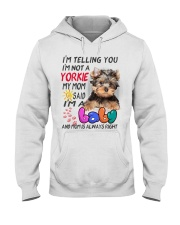 I LOVE YORKIE  Hooded Sweatshirt tile