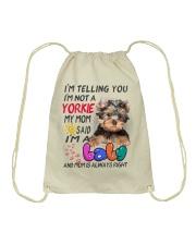 I LOVE YORKIE  Drawstring Bag thumbnail