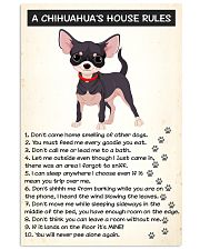 A CHIHUAHUAS HOUSE RULES 11x17 Poster front