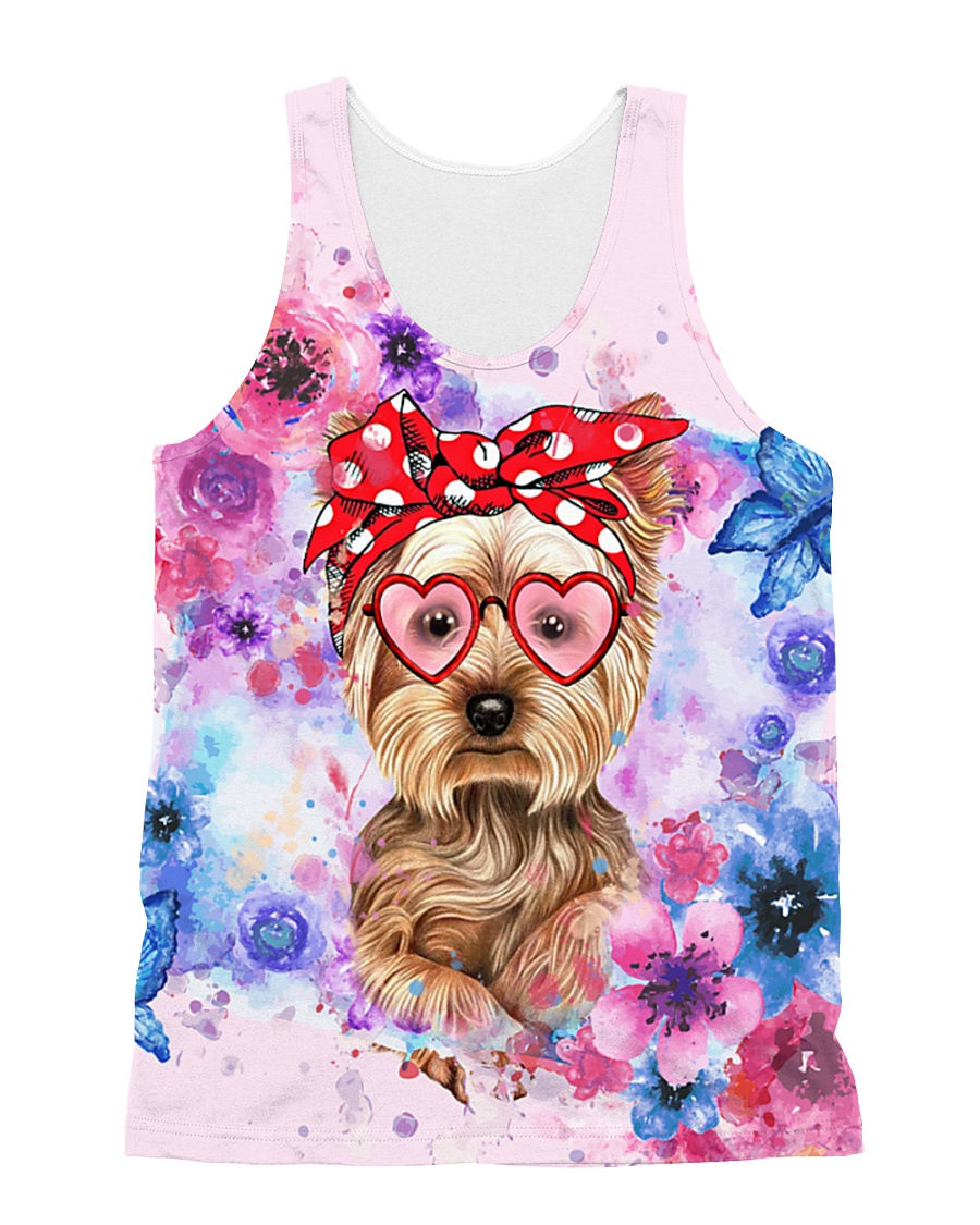 Yorkie Lover All-over Unisex Tank