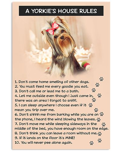 A YORKIES HOUSE RULES